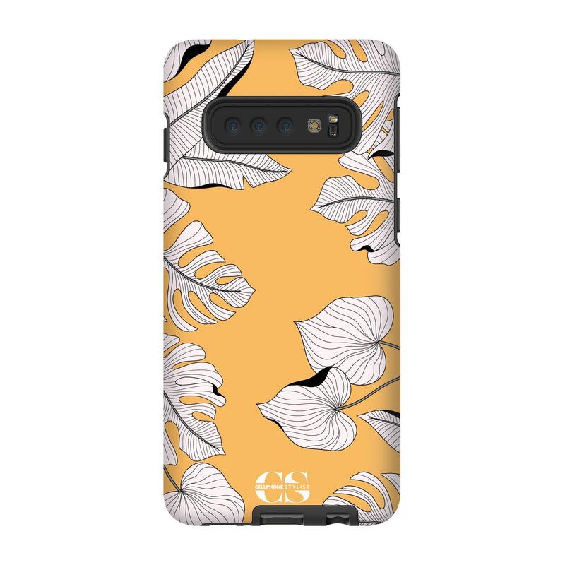 Tropical Pop Art - Orange (Galaxy) - Phone Case Galaxy S10 Tough Matte - Cellphone Stylist