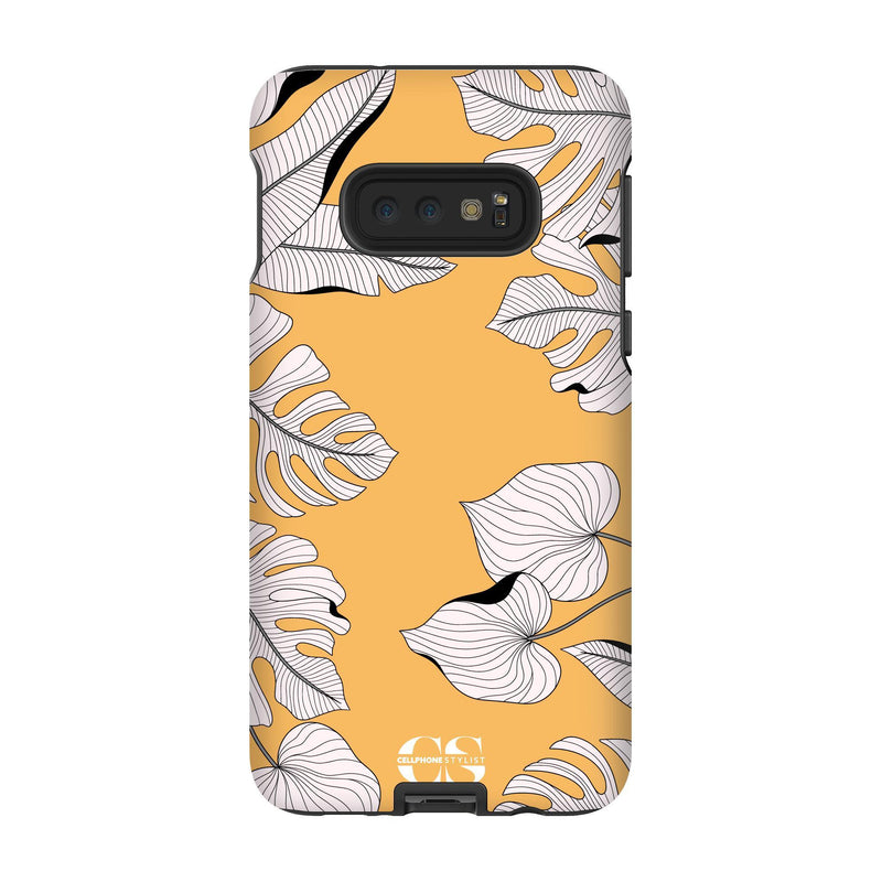 Tropical Pop Art - Orange (Galaxy) - Phone Case Galaxy S10E Tough Matte - Cellphone Stylist