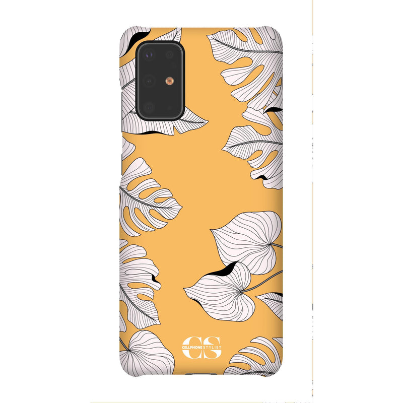 Tropical Pop Art - Orange (Galaxy) - Phone Case Galaxy S20 Plus Snap Matte - Cellphone Stylist