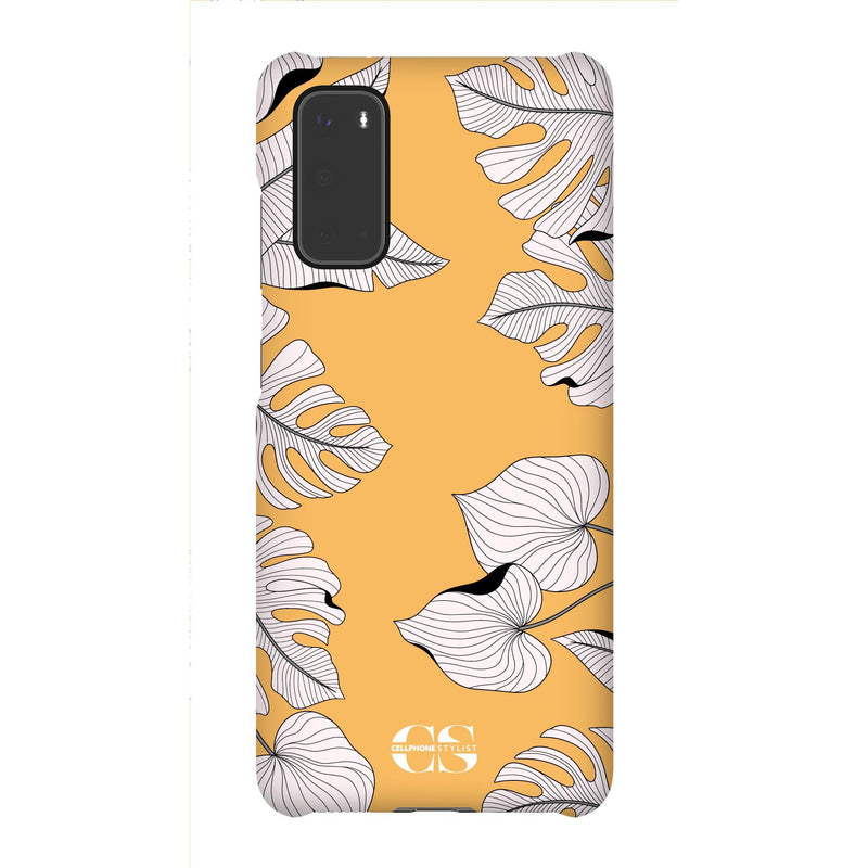 Tropical Pop Art - Orange (Galaxy) - Phone Case Galaxy S20 Snap Gloss - Cellphone Stylist