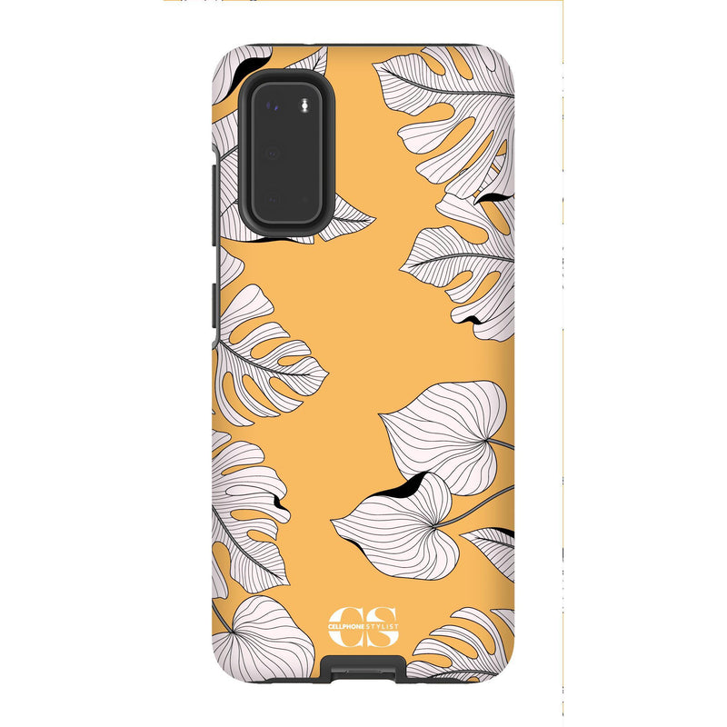 Tropical Pop Art - Orange (Galaxy) - Phone Case Galaxy S20 Tough Matte - Cellphone Stylist