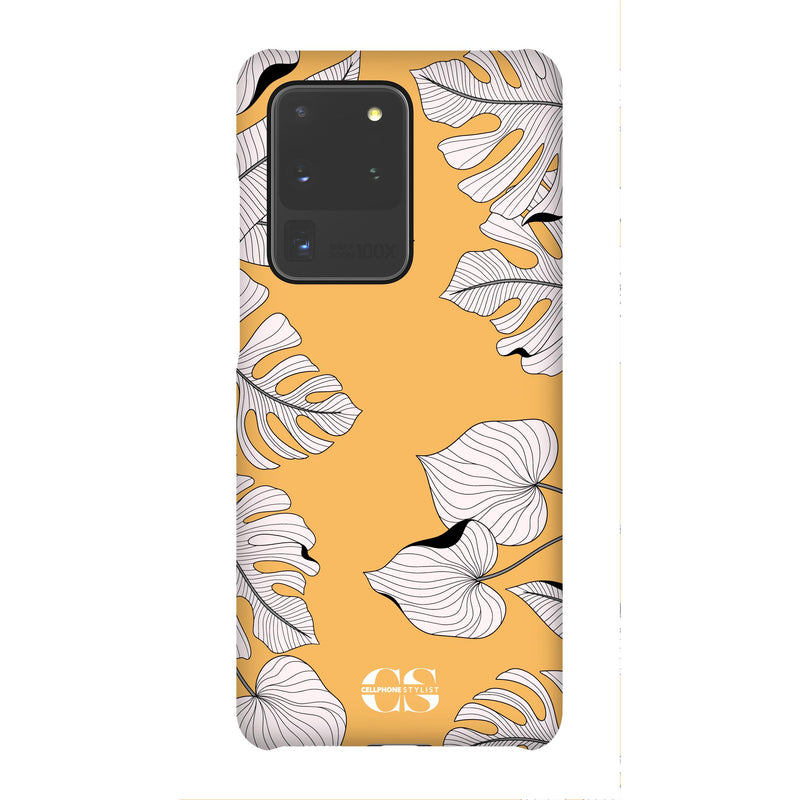 Tropical Pop Art - Orange (Galaxy) - Phone Case Galaxy S20 Ultra Snap Matte - Cellphone Stylist