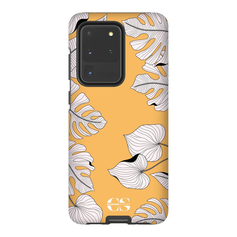 Tropical Pop Art - Orange (Galaxy) - Phone Case Galaxy S20 Ultra Tough Matte - Cellphone Stylist