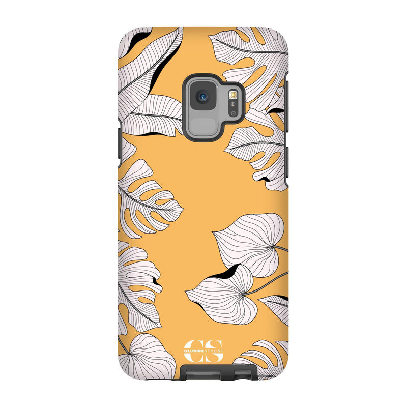 Tropical Pop Art - Orange (Galaxy) - Phone Case Galaxy S9 Tough Gloss - Cellphone Stylist