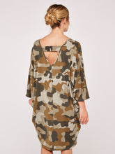 Load image into Gallery viewer, Apricot Camouflage Cozy Cocoon Dress