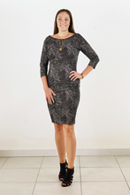 Load image into Gallery viewer, Speckled 3/4 Jersey  Sleeve Dress