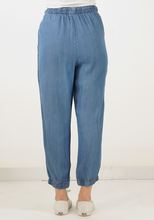 Load image into Gallery viewer, Drawstring Denim Joggers