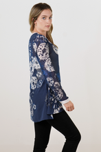 Load image into Gallery viewer, Blue Tie-Dye Blouse