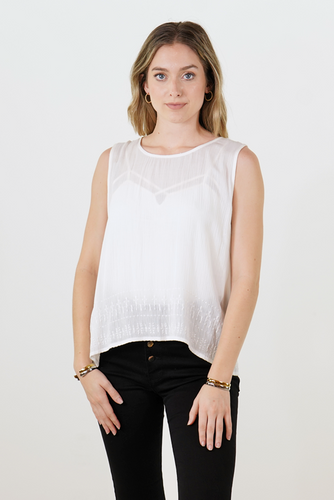 Button Back Tank