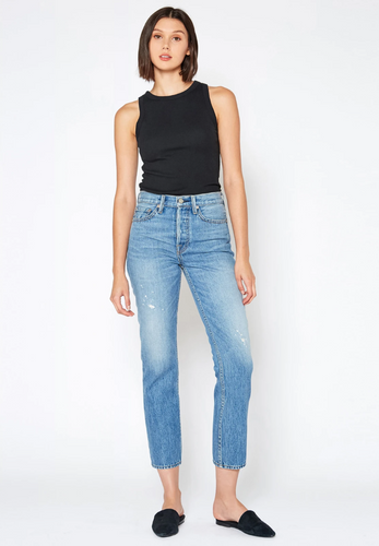 No End High Rise Straight Crop Jean