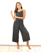 Load image into Gallery viewer, Pinstripe Culotte Jumpsuit