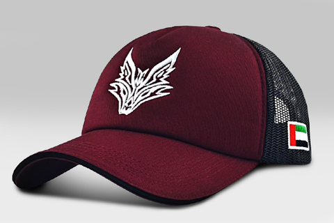 The Fox Logo Cap - Maroon& Black