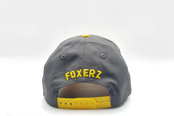 Fox logo cap Grey/Yellow rearward view
