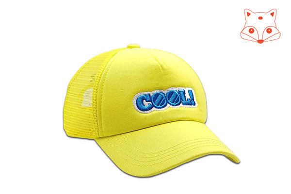 Foxerz Cap for Kids Cool yellow cap other sidelong view