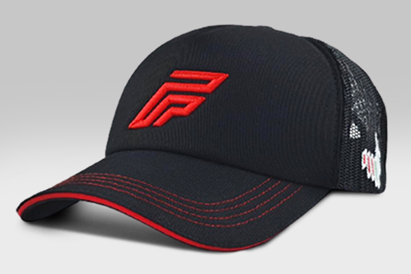 Foxerz Logo Cap - Black/Red - Large
