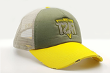 foxerz cap Gray/ Yellow MOVE_FAST other sidelong view