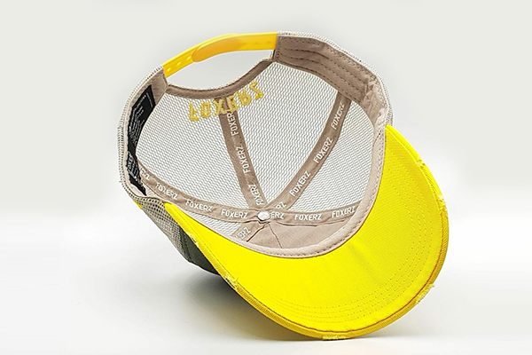 foxerz cap Gray/ Yellow MOVE_FAST overturned view