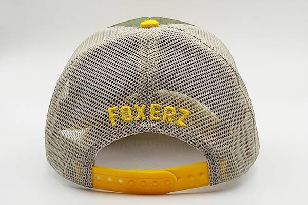 foxerz cap Gray/ Yellow MOVE_FAST rearward view