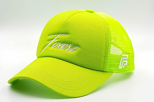 foxerz cap for women line-yellow sidelong view