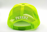 foxerz cap for women line-yellow rearward view
