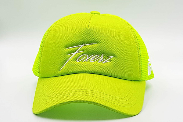 foxerz cap for women line-yellow frontal view