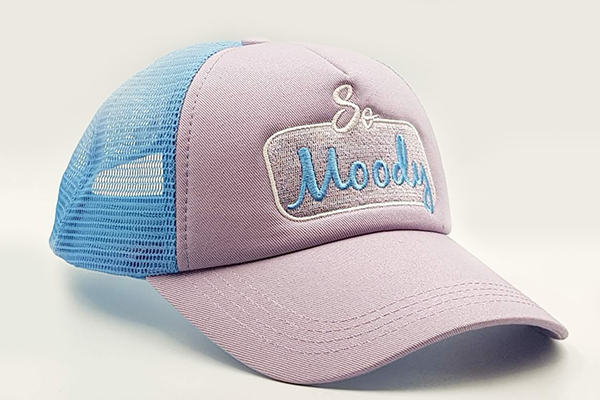 foxerz cap Gray/SkyBlue So_Moody other sidelong view