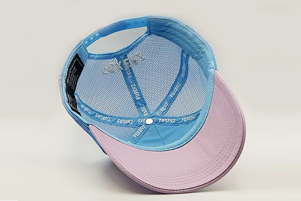 foxerz cap Gray/SkyBlue So_Moody overturned view