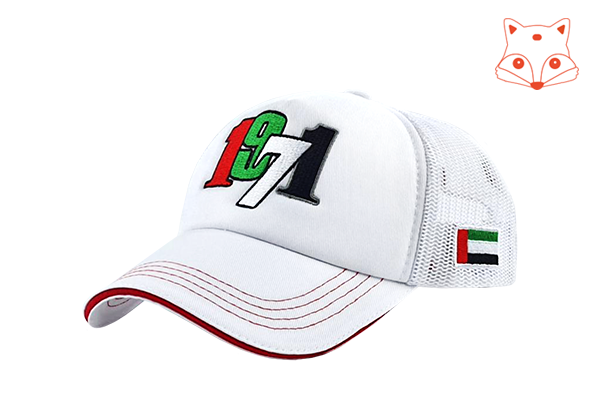 UAE 1971 Logo Cap - White | For Kids