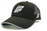 Foxerz logo black cap sidelong view