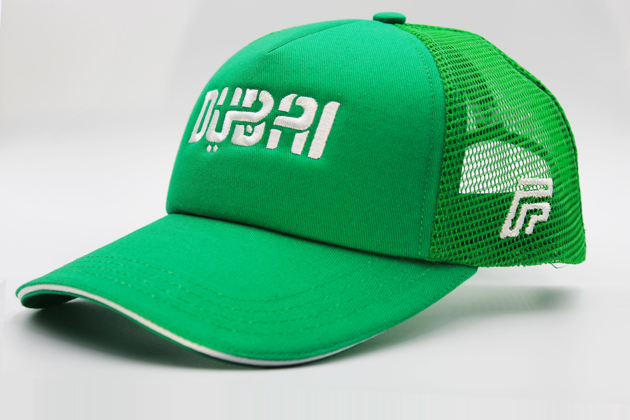 Foxerz Dubai green cap sidelong view