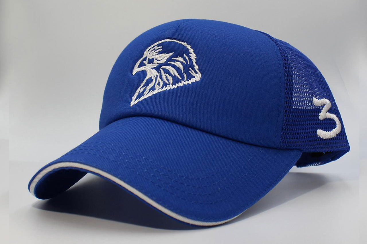 The Falcon Cap Number 3 - Blue