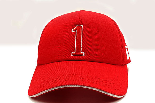 Number 1 foxerz cap red  frontal view