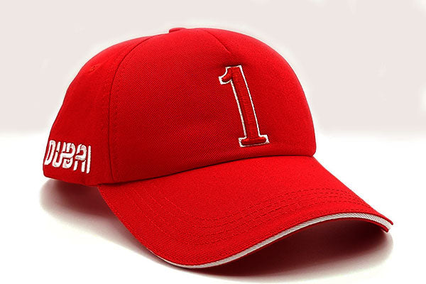 Number 1 foxerz cap red other sidelong view