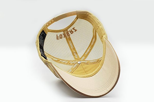 The UAE official emblem cap beige overturned view