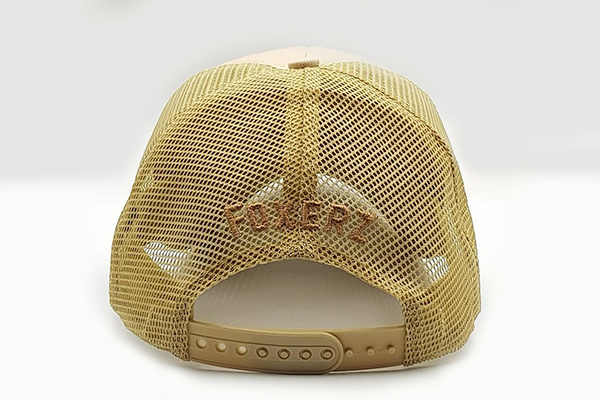 The UAE official emblem cap beige rearward view