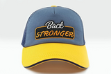 foxerz cap navy-blue/yellow Back_Stronger frontal view