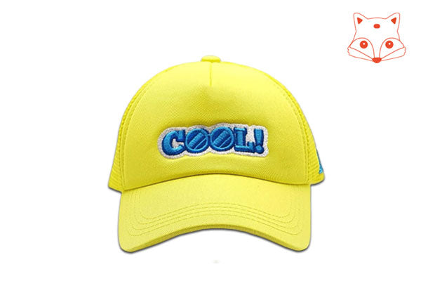 Foxerz Cap for Kids Cool yellow cap frontal view