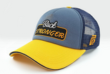 foxerz cap navy-blue/yellow Back_Stronger sidelong view