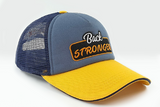 foxerz cap navy-blue/yellow Back_Stronger other sidelong view