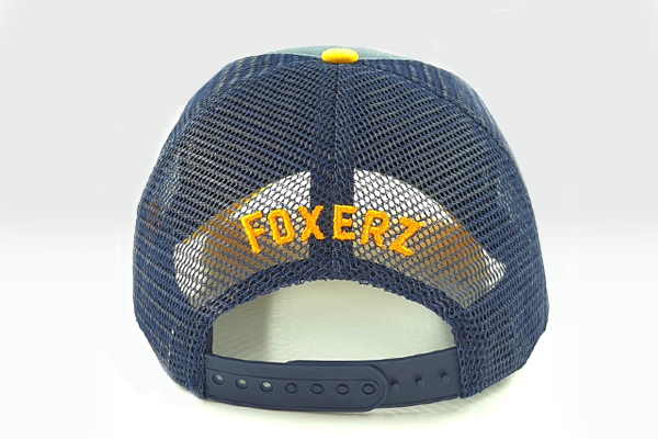 foxerz cap navy-blue/yellow Back_Stronger rearward view