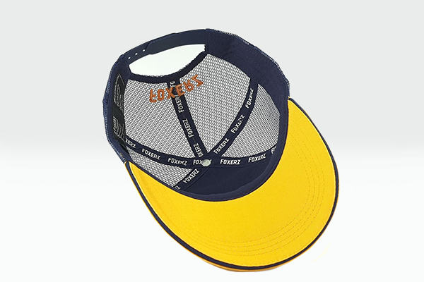 foxerz cap navy-blue/yellow Back_Stronger overturned view