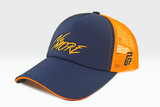 foxerz cap Navy blue-Orange No_More sidelong view