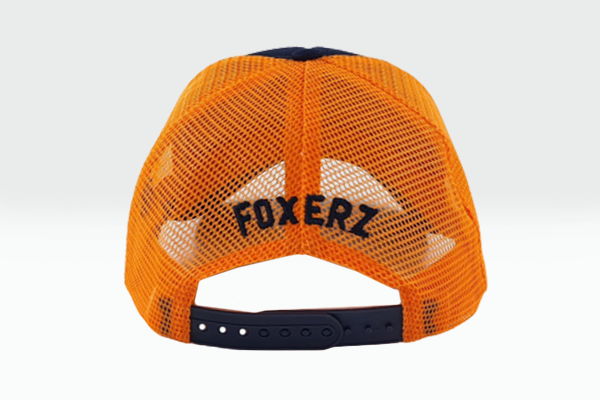 foxerz cap Navy blue-Orange No_More rearward view