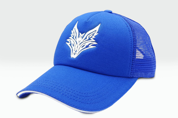 The Fox Logo blue cap sidelong view