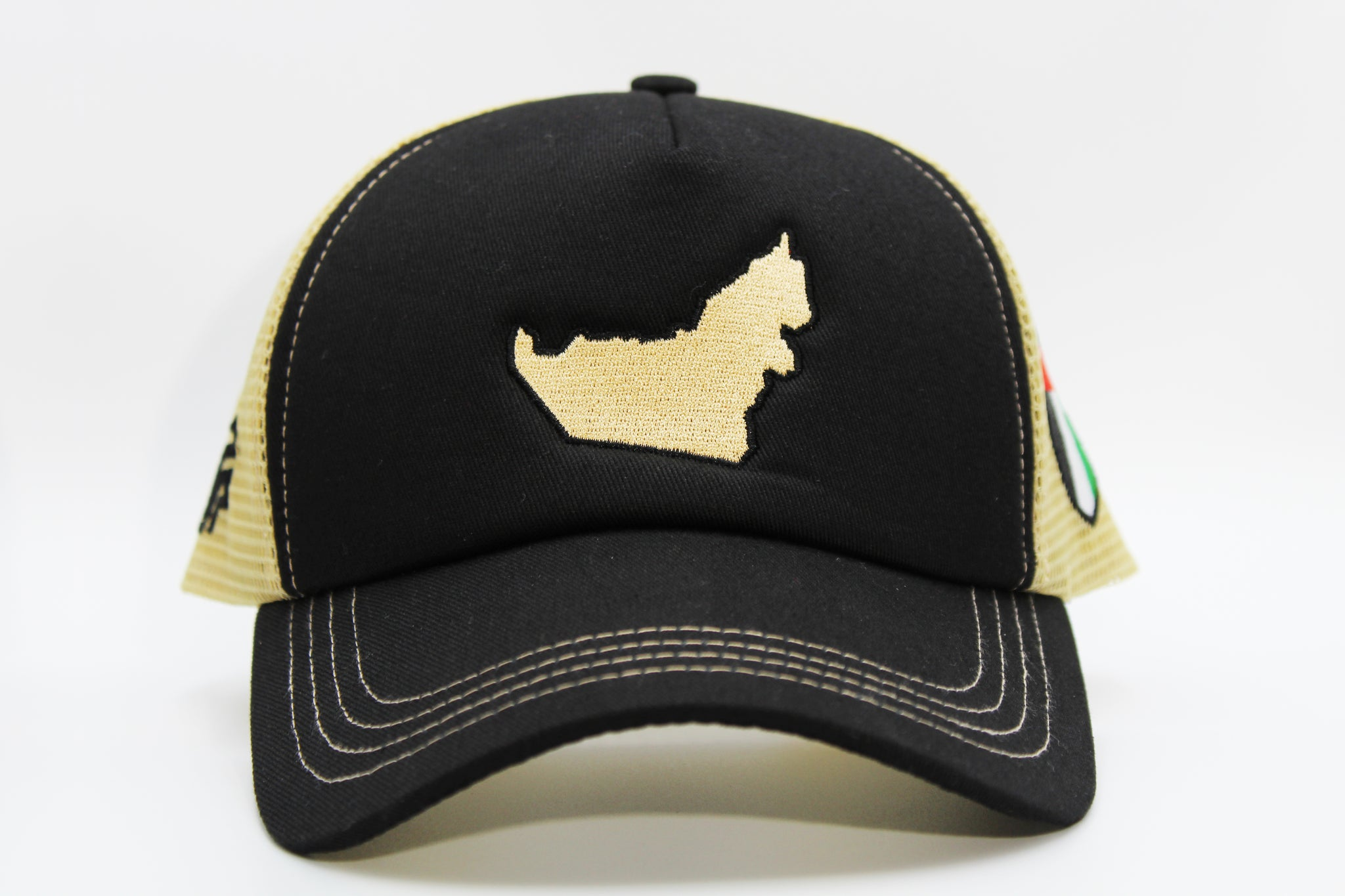 The UAE's Map/Flag Logos Cap - Black/Gold
