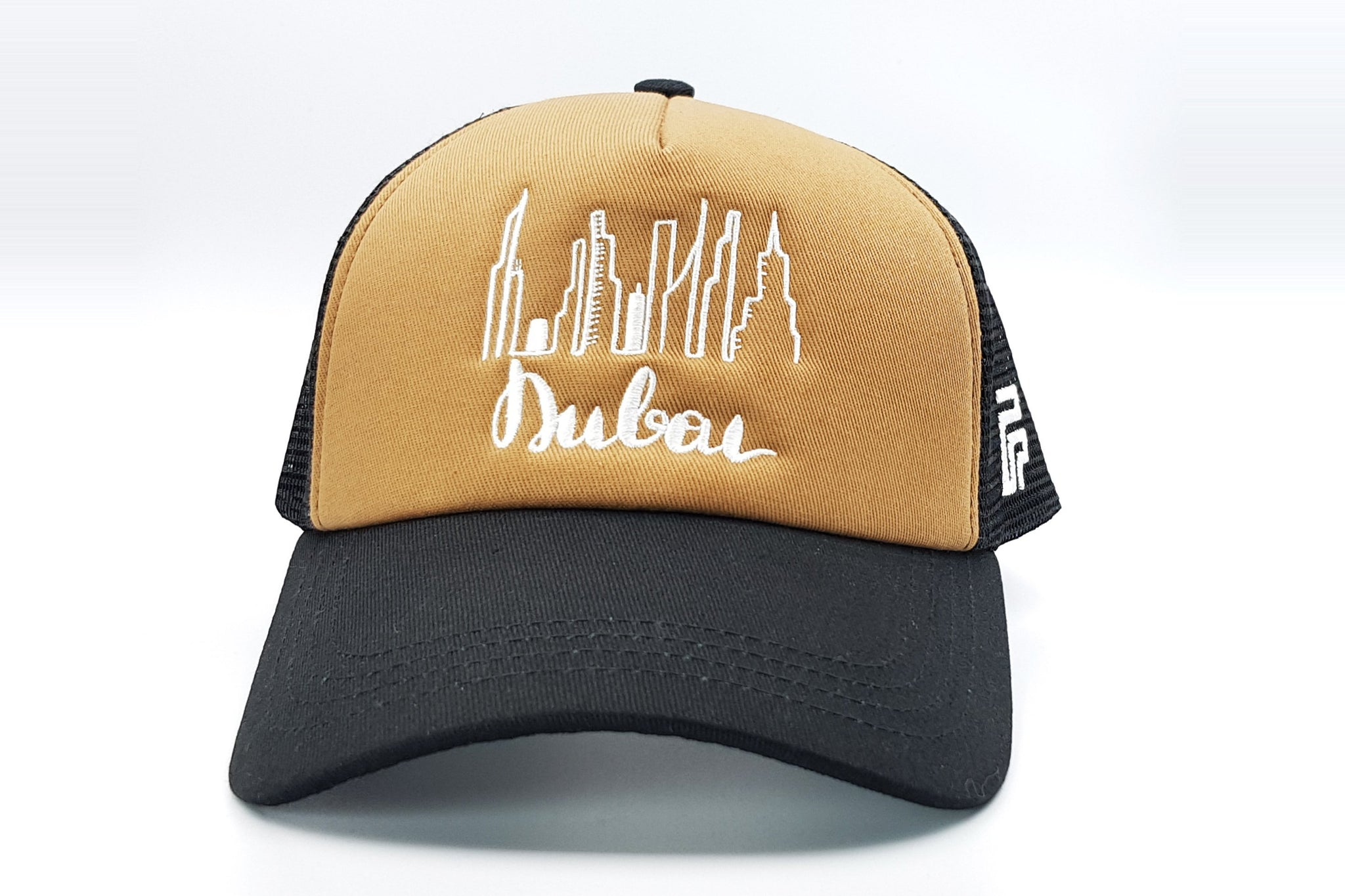 Dubai cap brown-black Foxerz front-side view