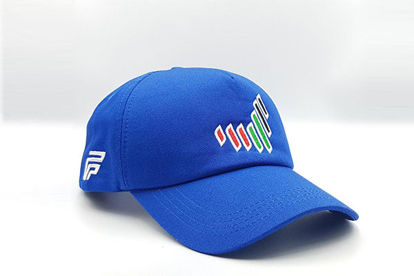 The UAE nation brand blue cap other sidelong view