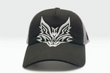 The Extended Fox Logo black cap frontal view