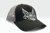 The Extended Fox Logo black cap other sidelong view