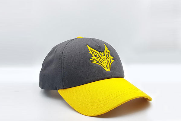 Fox logo cap Grey/Yellow other sidelong view
